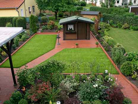 Rasen anlegen Grün Pflasterarbeiten Kropp Garten Landschaft